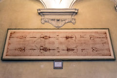 Copy of the holy Shroud in Turin, Italy Royalty Free Stock Photo