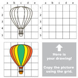 Copy the image using grid. Aerostat  Royalty Free Stock Image
