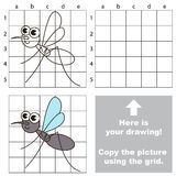 Copy the image using grid. Gnat. Stock Images
