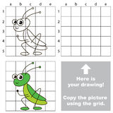 Copy the image using grid. Grasshopper. Royalty Free Stock Image