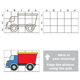 Copy the image using grid. Lorry Royalty Free Stock Images
