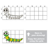 Copy the image using grid. Millipede. Royalty Free Stock Images