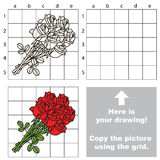 Copy the image using grid, the simple educational kid game. royalty free illustration