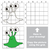 Copy the image using grid, the simple educational kid game. Royalty Free Stock Photography