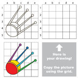 Copy the image using grid, the simple educational kid game. Copy the picture using grid lines, the simple educational game for preschool children education with Royalty Free Stock Photos