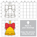 Copy the image using grid, the simple educational kid game. Copy the picture using grid lines, the simple educational game for preschool children education with Royalty Free Stock Image