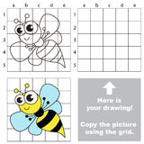 Copy the image using grid. Wasp. Stock Photos