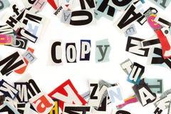 Copy inscription Royalty Free Stock Photos