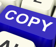 Copy Keys Mean Duplicate Copying Or Replicate Stock Photos