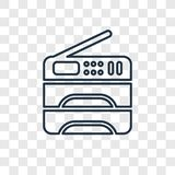 Copy machine concept vector linear icon on transparent. Background, Copy machine concept transparency concept in outline style stock illustration