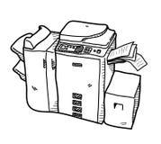 Copy Machine Doodle Stock Image