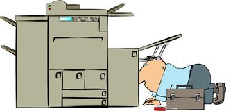 Copy machine repairman Stock Images