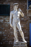 Copy of Michelangelo`s David in Florence Stock Photos