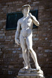 Copy of Michelangelo`s David in Florence Royalty Free Stock Photography