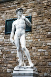 Copy of Michelangelo's David statue, Florence, Italy. Stock Photo