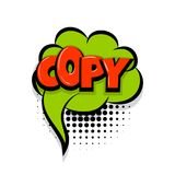 Copy comic text white background Stock Images