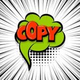 Copy comic text stripperd backdrop. Copy, paste Comic text speech bubble balloon. Pop art style wow banner message. Comics book font sound phrase template Stock Photography