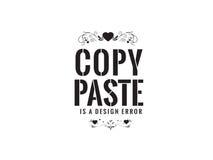 Copy paste. Is a design error vector background wallpaper royalty free illustration