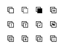 Copy Paste icons for Apps, Web Pages. Royalty Free Stock Image