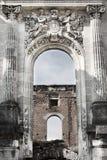 Copy of Petite Trianon in Romania, ruined castle Stock Photo