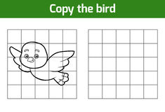 Copy the picture (bird). Copy the picture, education game for children (bird stock illustration