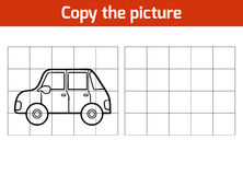 Copy the picture, Car. Copy the picture, education game for children, Car Stock Photo