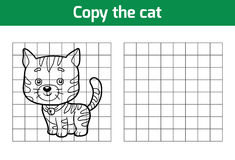 Copy the picture (cat) Royalty Free Stock Image