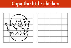 Copy the picture: chick. Copy the picture, education game: chick royalty free illustration