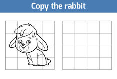 Copy the picture for children. Animal characters, rabbit Royalty Free Stock Photography