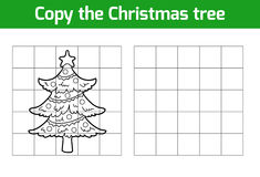 Copy the picture: Christmas tree Stock Photo