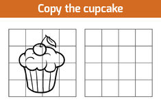 Copy the picture: cupcake. Copy the picture, education game: cupcake Royalty Free Stock Photo