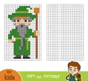 Copy the picture, education game for children, Wizard Stock Photo