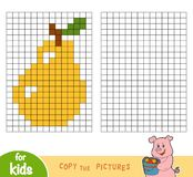 Copy the picture, education game, Pear Stock Images