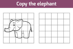 Copy the picture (elephant) Stock Photography