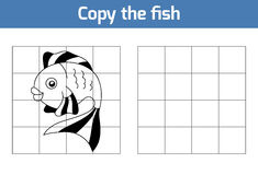 Copy the picture: fish. Copy the picture, education game: fish stock illustration