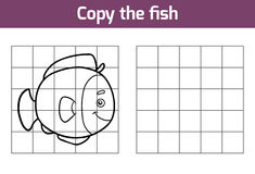 Copy the picture (fish). Copy the picture, education game for children (fish Royalty Free Stock Photography