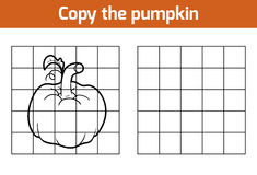 Copy the picture. Fruits and vegetables, pumpkin Stock Photo
