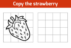 Copy the picture. Fruits and vegetables, strawberry Stock Image