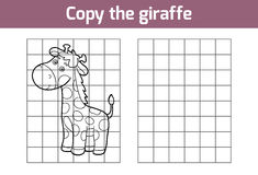 Copy the picture (giraffe) Royalty Free Stock Images