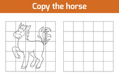 Copy the picture: horse. Copy the picture, education game: horse Royalty Free Stock Photography