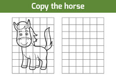 Copy the picture (horse). Copy the picture, education game for children (horse royalty free illustration