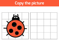 Copy the picture, Ladybug Royalty Free Stock Photo