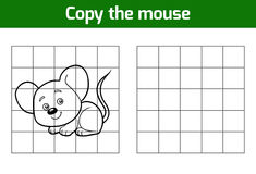 Copy the picture (mouse). Copy the picture, education game for children (mouse royalty free illustration