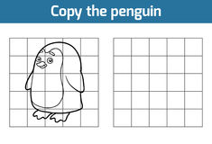 Copy the picture (penguin). Copy the picture, education game for children (penguin stock illustration