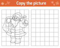 Copy the picture. Santa Claus and bell. Copy the picture, education game for children. Santa Claus and bell royalty free illustration