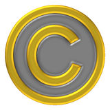 Copy right mark icon Stock Image