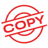 Copy rubber stamp Stock Image