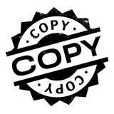 Copy rubber stamp Royalty Free Stock Photos