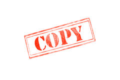 `COPY ` rubber stamp over a white background. Design Stock Images