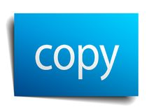 Copy sign. Copy square paper sign isolated on white background. copy button. copy royalty free illustration